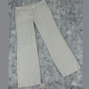 J. Crew Seersucker Pants 6 Wide Leg